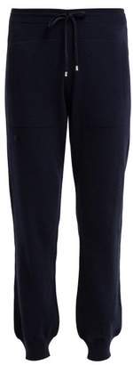 Barrie Romantic Cashmere Track Pants - Womens - Navy
