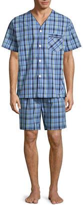 STAFFORD Stafford V-Neck Short Sleeve/ Short Leg Pajama Set - Big and Tall