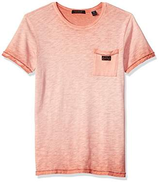 Scotch & Soda Men's Oil-Washed Tee with Cut & Sewn Styling