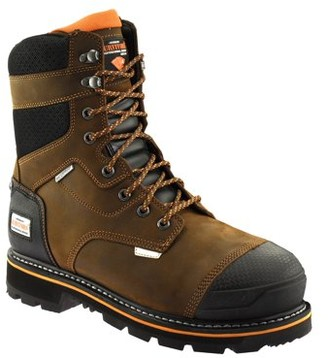Herman Survivors Professional Series Herman Survivor Professional Series Mens 8 inch Dozier Work Boot, ASTM Rated Safe, Slip Resistant, Brown and Black