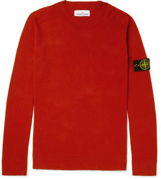Stone Island Logo-Appliqued Cotton Sweater