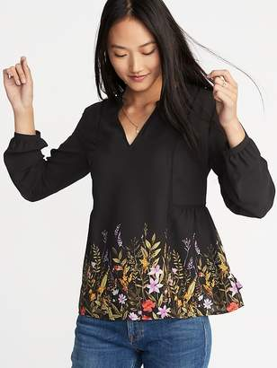 Old Navy Floral-Print Georgette Swing Blouse for Women