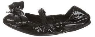 Prada Sport Bow-Accented Ballet Flats