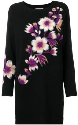Twin-Set knitted floral dress