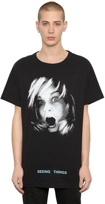 Girl Printed Jersey Oversize T-Shirt $306 thestylecure.com