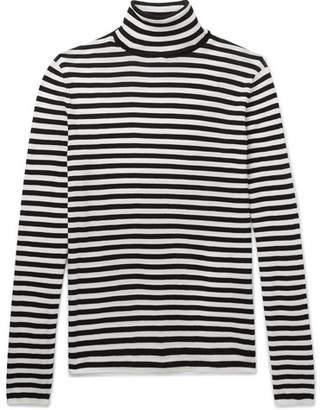 Saint Laurent Striped Cotton Rollneck Sweater