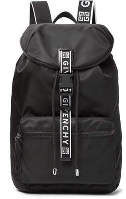 Givenchy Leather-Trimmed Nylon Backpack - Black