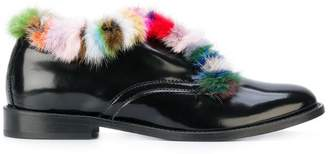 Joshua Sanders fur trimmed loafers