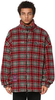 Off-White Checked Acrylic Blend Casual Jacket