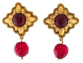 Chanel Gripoix Resin Drop Earrings