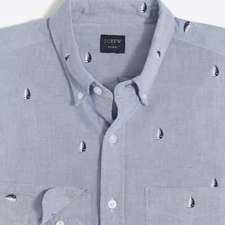 J.Crew Factory Slim flex printed oxford shirt