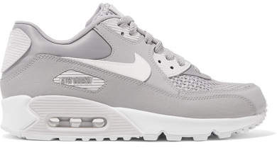 Nike - Air Max 90 Se Stretch-knit, Suede, Leather And Mesh Sneakers - Gray