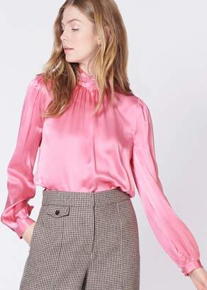 Veronica Beard Chilton Blouse In Pink