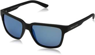 Armani Exchange A|X  Men's Injected Man Non-Polarized Iridium Square Sunglasses