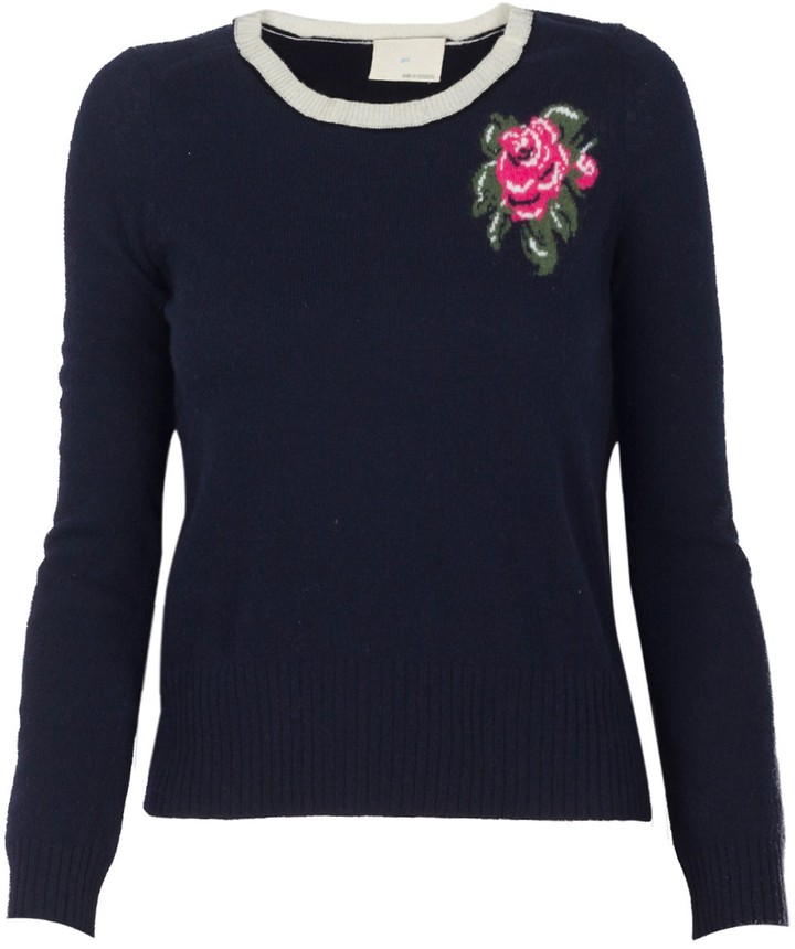 Band Of Outsiders Rose Intarsia Sweater
