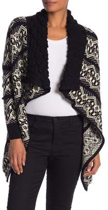 Papillon Printed Open Front Cardigan