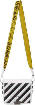 Off-White White Diagonal Binder Clip Flap Bag