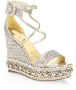 Christian Louboutin Chocazeppa Wedge Sandals