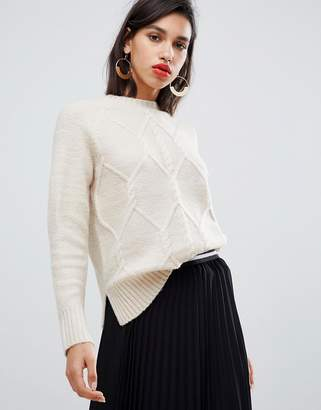 Y.A.S crew neck knitted cable sweater