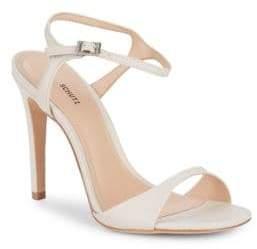 Schutz Jade Leather Stiletto Sandals