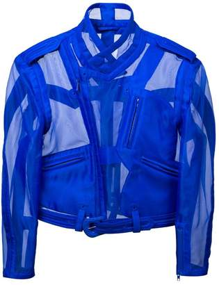 Maison Margiela transparent biker jacket