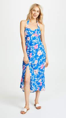 WAYF Ucca Halter Midi Dress