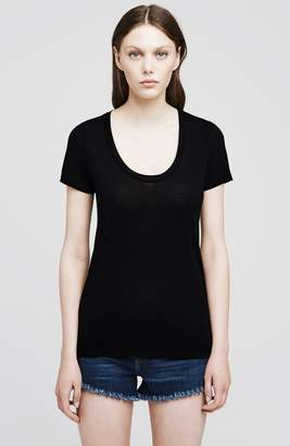 L'Agence Perfect Scoop Neck Tee