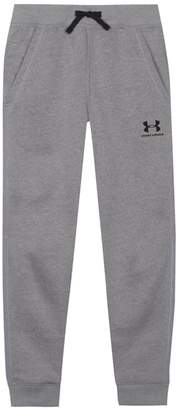 Under Armour Boys' Grey Logo Print Jogging Bottoms