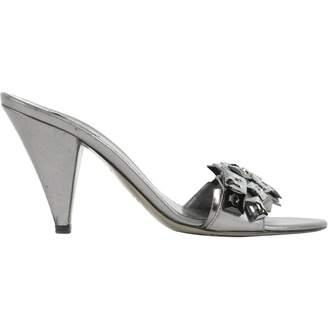 Miu Miu Anthracite Leather Heels