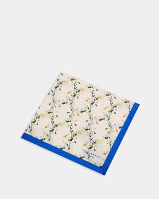 Ted Baker HYACIN Flower print silk pocket square