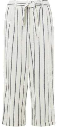 Dorothy Perkins Womens Ivory Striped Linen Culotte Trousers