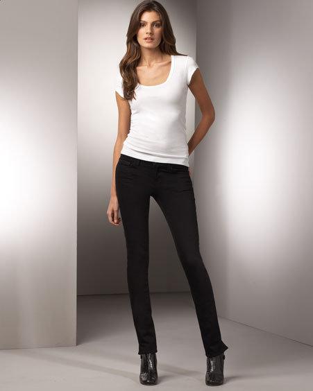J Brand Jeans Pencil Split Skinny Jeans, Black