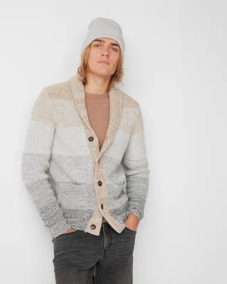 Express Shawl Collar Ombre Cardigan