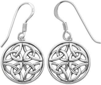 Celtic FINE JEWELRY Sterling Silver Circle Drop Earrings