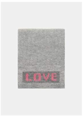 MANGO Love Knitted scarf