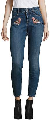 Peserico Women's Embroidered Skinny Jeans - Blue, Size 26 (2-4)