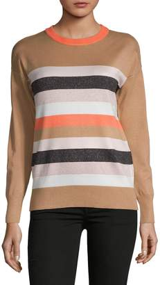 DKNY Striped Crewneck Pullover