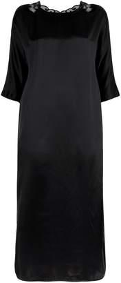 Hanro Lace Detail Silk Sleep Shirt