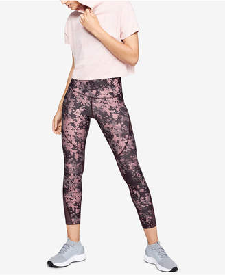 Under Armour HeatGear Printed Mesh-Inset Compression Leggings