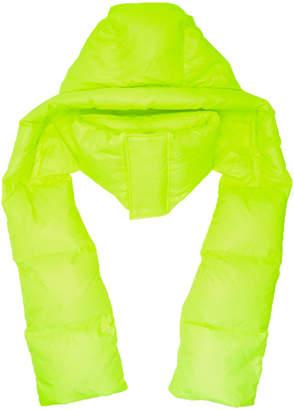 Juun.J Yellow Hooded Down Scarf