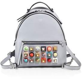 Fendi Multicolor Studded Leather Mini Backpack