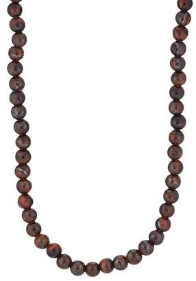 Barneys New York Men's Tiger's-Eye Beaded Necklace - Red
