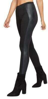 BCBGeneration Faux Leather-Trimmed Leggings