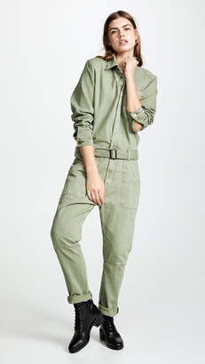 One Teaspoon Super Khaki Utility Jumpsuit