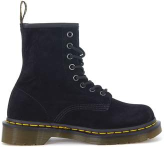 Dr. Martens A 8 Fori Black Suede Leather Combat Boots