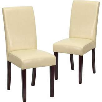 Flash Furniture 2-Pack Leather Upholstered Parsons Chair, Multiple Colors