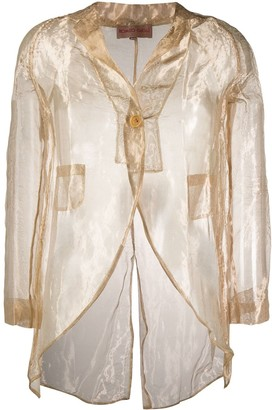Romeo Gigli Pre-Owned 1990's sheer slim jacket