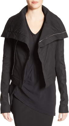 Rick Owens Stretch Cotton Biker Jacket