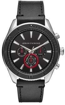 Armani Exchange Quartz Chronograph Leather Strap Enzo Watch