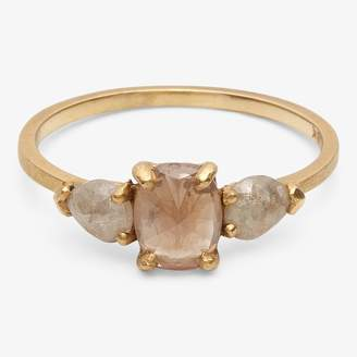 Dawes Design Yellow Gold Oval Ring Opaque Diamond